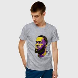 Мужская хлопковая футболка с принтом Демонский Леброн, цвет: меланж, артикул: 10158518900001 — фото 2