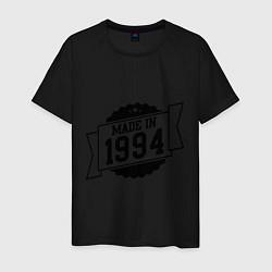Футболка хлопковая мужская Made in 1994 цвета черный — фото 1