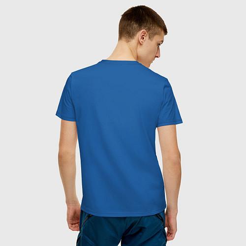 Мужская футболка Личное дело - собо опасен / Синий – фото 4
