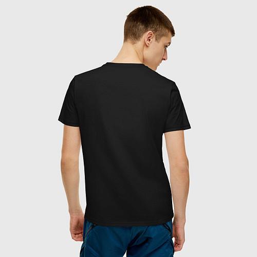 Мужская футболка Помогу завалить Циклопа / Черный – фото 4