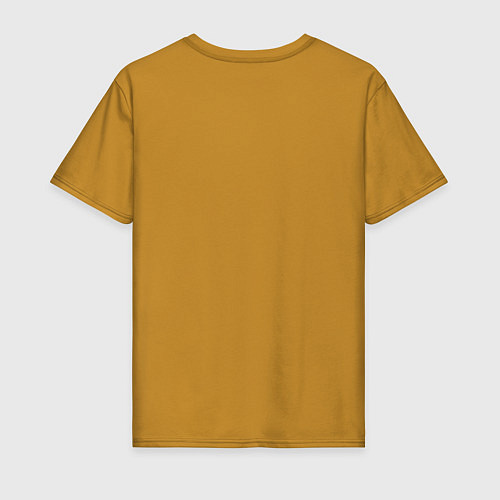 Мужская футболка Сигаретки - мигаретки / Горчичный – фото 2