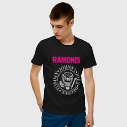 Футболка хлопковая мужская Ramones Boyband цвета черный — фото 2
