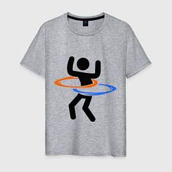 Футболка хлопковая мужская Portal Рoops цвета меланж — фото 1