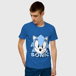 Футболка хлопковая мужская Соник цвета синий — фото 2