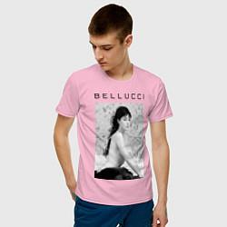 Футболка хлопковая мужская Monica Bellucci: Romantic цвета светло-розовый — фото 2
