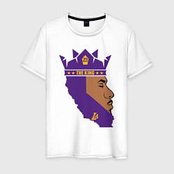 Мужская хлопковая футболка с принтом LeBron: The King, цвет: белый, артикул: 10162966700001 — фото 1