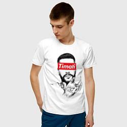 Футболка хлопковая мужская Timati Supreme цвета белый — фото 2