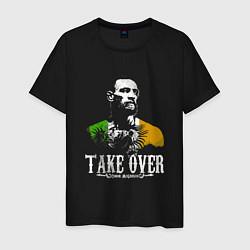 Мужская хлопковая футболка с принтом McGregor: Take Over, цвет: черный, артикул: 10163653900001 — фото 1