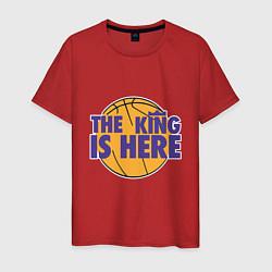 Мужская хлопковая футболка с принтом The King is Here, цвет: красный, артикул: 10168492900001 — фото 1