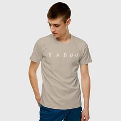 Футболка хлопковая мужская Taboo цвета миндальный — фото 2