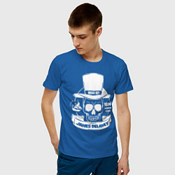 Футболка хлопковая мужская Taboo: James Delaney цвета синий — фото 2