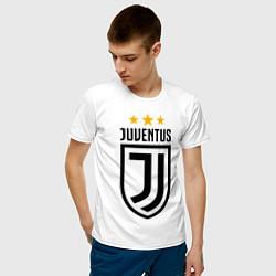 Футболка хлопковая мужская Ювентус цвета белый — фото 2