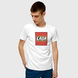 Футболка хлопковая мужская LADA LEGO цвета белый — фото 2
