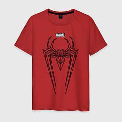 Футболка хлопковая мужская Black Spider-Man цвета красный — фото 1