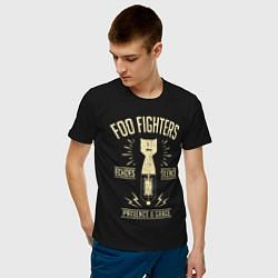 Футболка хлопковая мужская Foo Fighters: Patience & Grace цвета черный — фото 2