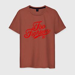 Футболка хлопковая мужская Foo Fighters 95 цвета кирпичный — фото 1