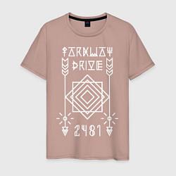 Футболка хлопковая мужская Parkway Drive: 2481 цвета пыльно-розовый — фото 1
