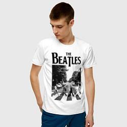 Футболка хлопковая мужская The Beatles: Mono Abbey Road цвета белый — фото 2