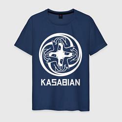 Футболка хлопковая мужская Kasabian: Symbol цвета тёмно-синий — фото 1