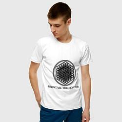 Мужская хлопковая футболка с принтом Bring me the horizon, цвет: белый, артикул: 10017329100001 — фото 2