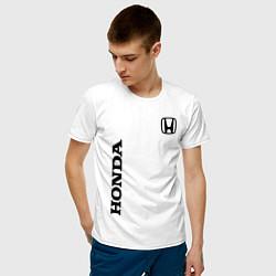 Мужская хлопковая футболка с принтом HONDA, цвет: белый, артикул: 10173934100001 — фото 2