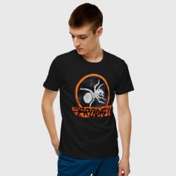 Футболка хлопковая мужская The Prodigy: Orange Style цвета черный — фото 2