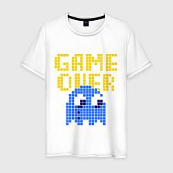 Футболка хлопковая мужская Pac-Man: Game over цвета белый — фото 1