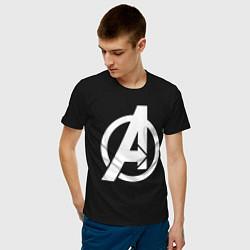Футболка хлопковая мужская Avengers Symbol цвета черный — фото 2
