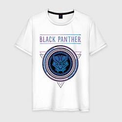 Футболка хлопковая мужская Черная пантера цвета белый — фото 1