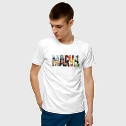 Мужская хлопковая футболка с принтом Marvel Comics, цвет: белый, артикул: 10178139900001 — фото 2