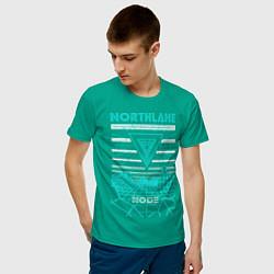 Футболка хлопковая мужская Northlane: Node цвета зеленый — фото 2