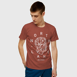 Футболка хлопковая мужская Northlane: Mesmer цвета кирпичный — фото 2