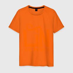 Футболка хлопковая мужская Lin: как воздух цвета оранжевый — фото 1
