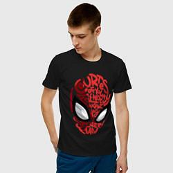 Мужская хлопковая футболка с принтом Spider-Man, цвет: черный, артикул: 10183935300001 — фото 2