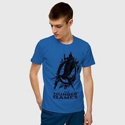 Футболка хлопковая мужская The Hunger Games цвета синий — фото 2