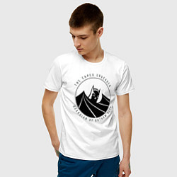 Футболка хлопковая мужская Gotham city цвета белый — фото 2