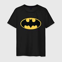 Футболка хлопковая мужская Batman цвета черный — фото 1