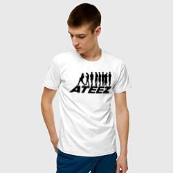 Мужская хлопковая футболка с принтом Ateez, цвет: белый, артикул: 10196172700001 — фото 2