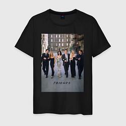 Футболка хлопковая мужская Friends цвета черный — фото 1