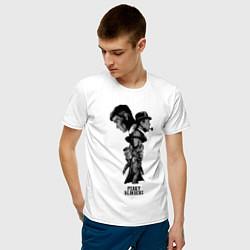Футболка хлопковая мужская Острые козырьки постер цвета белый — фото 2