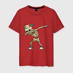 Футболка хлопковая мужская Dab Skeleton цвета красный — фото 1