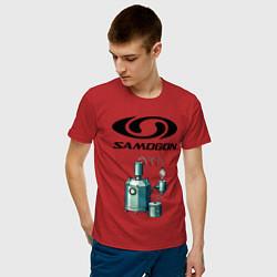 Футболка хлопковая мужская SAMOGON цвета красный — фото 2