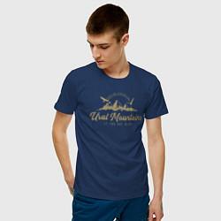 Футболка хлопковая мужская Урал Gold Classic цвета тёмно-синий — фото 2