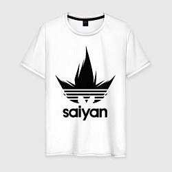 Футболка хлопковая мужская Saiyan цвета белый — фото 1