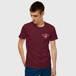 Футболка хлопковая мужская Tony Ferguson спина цвета меланж-бордовый — фото 2