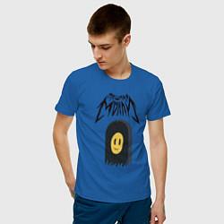 Футболка хлопковая мужская ПОШЛАЯ МОЛЛИ цвета синий — фото 2
