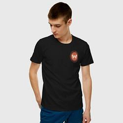 Футболка хлопковая мужская Westworld Logo цвета черный — фото 2