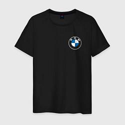 Футболка хлопковая мужская BMW LOGO 2020 цвета черный — фото 1