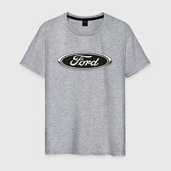 Футболка хлопковая мужская Ford цвета меланж — фото 1