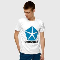 Футболка хлопковая мужская Chrysler цвета белый — фото 2